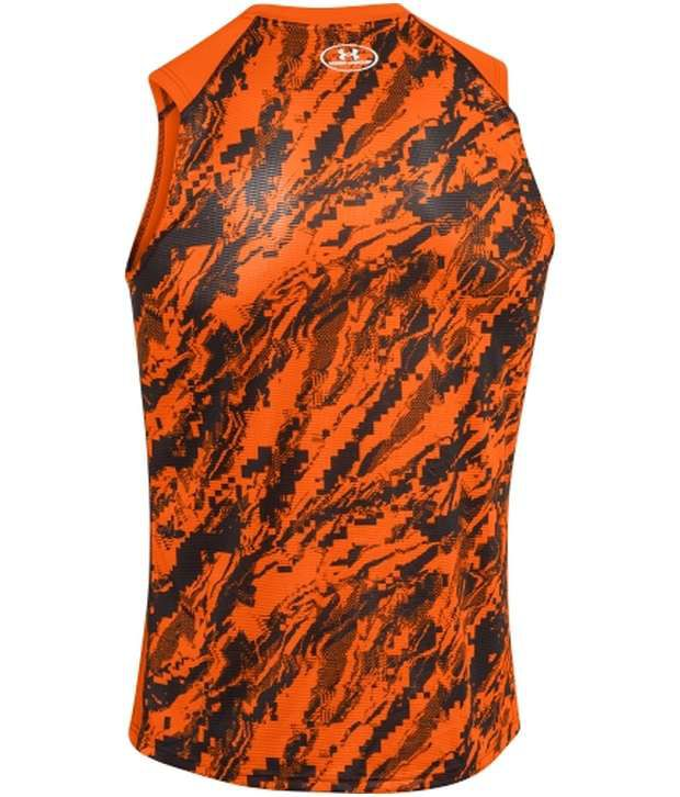 Under Armour Under Armour Orange Mens Tough Mudder Humble Fitted Sleeveless Tank