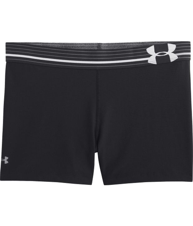Under Armour Under Armour Red And Black Womens Heat Gear Armour Compression Shorts (pack Of 2)