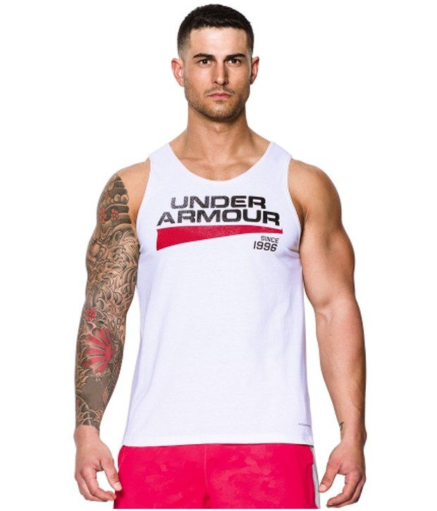 Under Armour Under Armour White And Blue Mens Tri-blend Graphic Sleeveless Tank (pack Of 2)