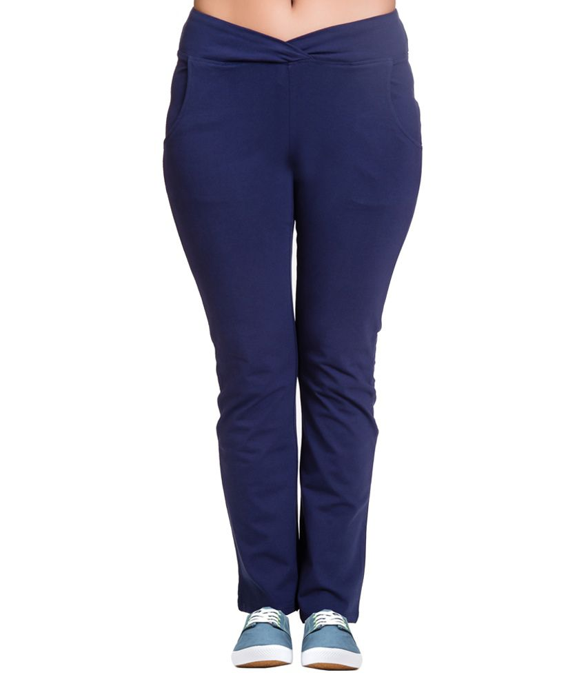 Vrtya Vrtya Blue Cotton Leggings For Women
