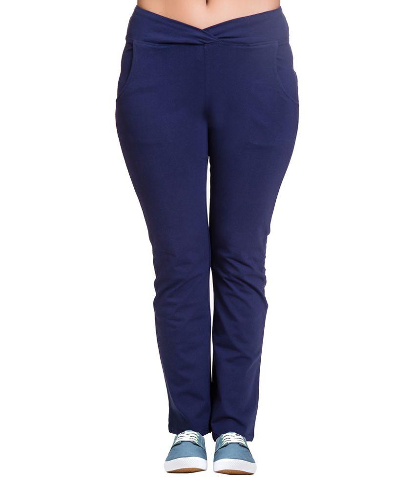Vrtya Vrtya Blue Cotton Leggings For Women