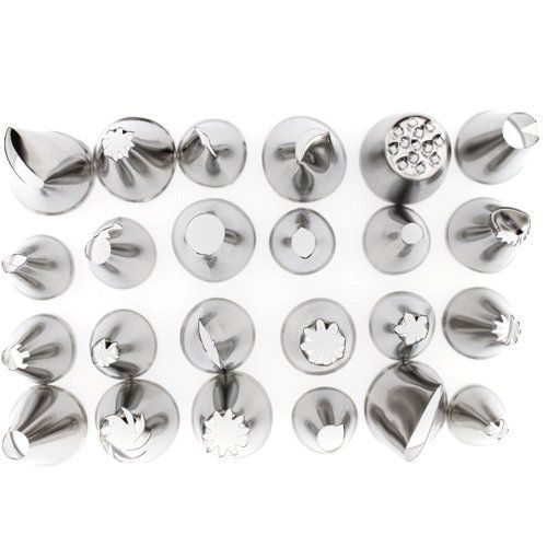 Vardhman Cake Icing Stainless Steel  Nozzles - Set of 24