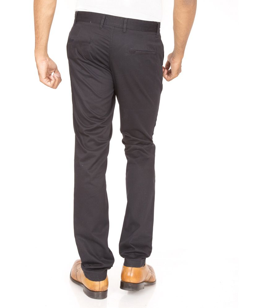 Masterly Weft Grey Slim Fit Casual Chinos
