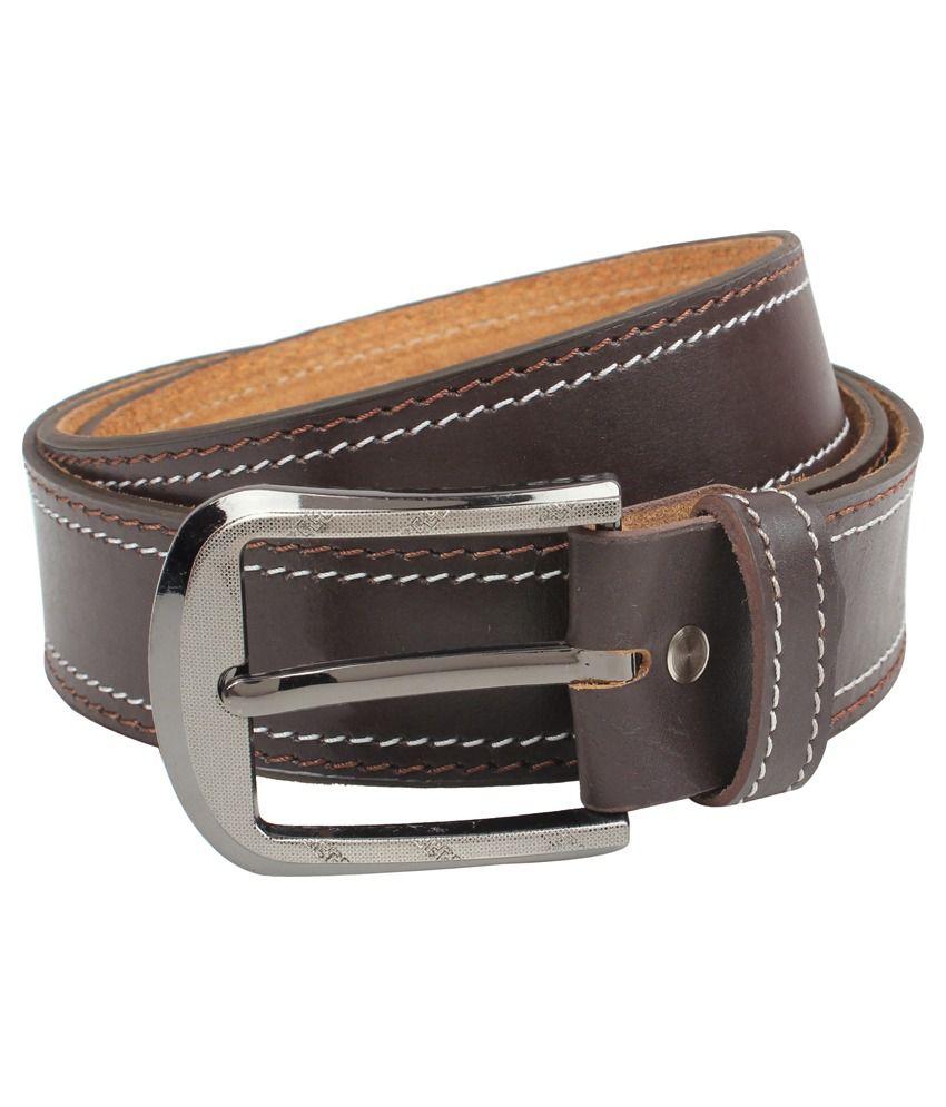 Exotique Brown Leather Belt For Men