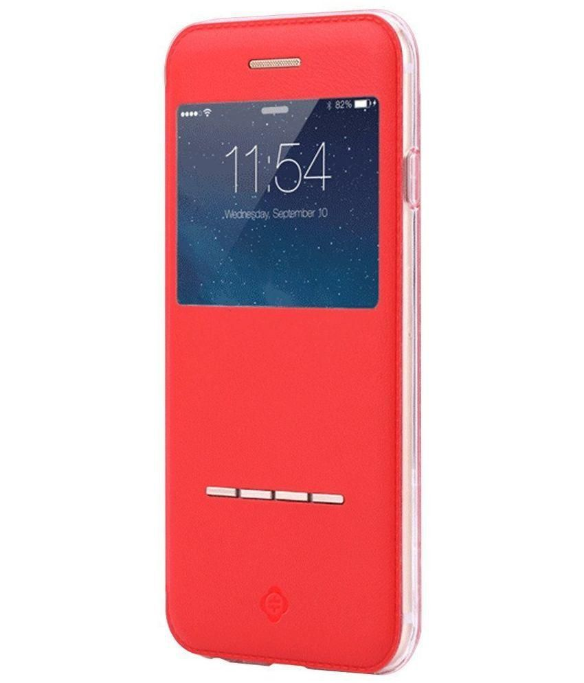 Totu Design Flip Cover for Apple iPhone 6/6S - Red