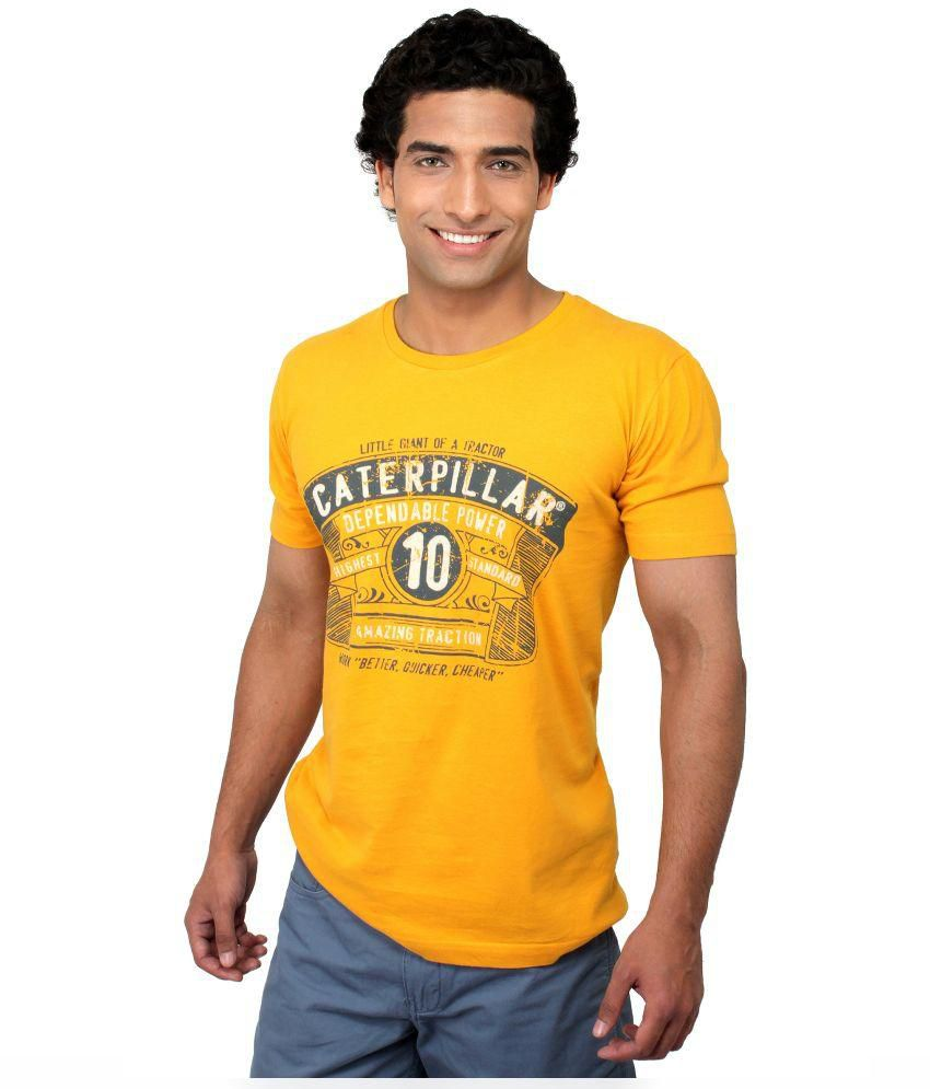 Cat Yellow CottonT-Shirt