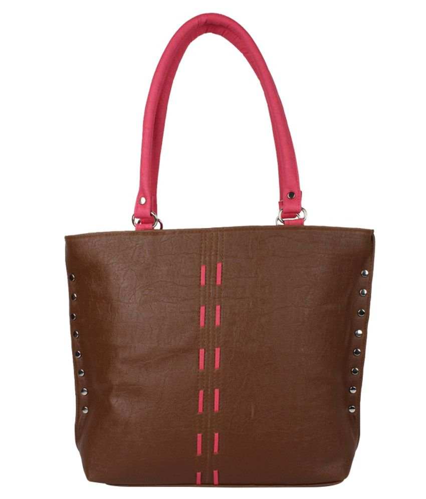Cocktail Brown Pu Shoulder Bag
