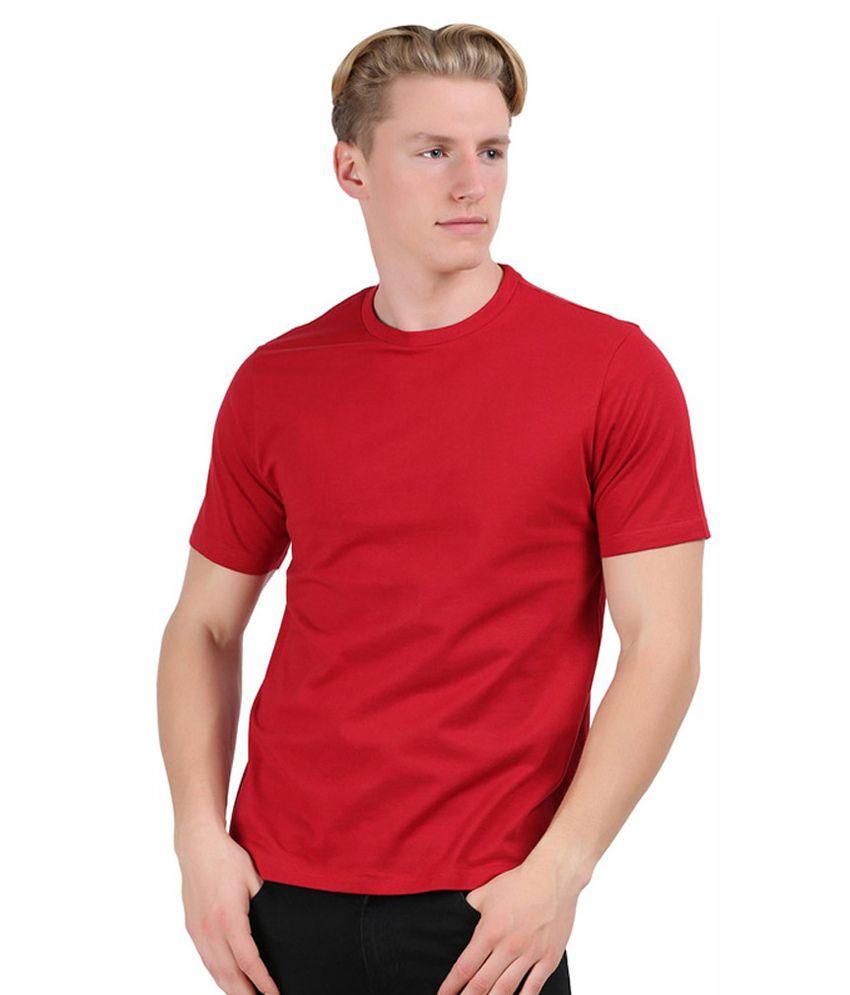 Filum Red Cotton T-shirt