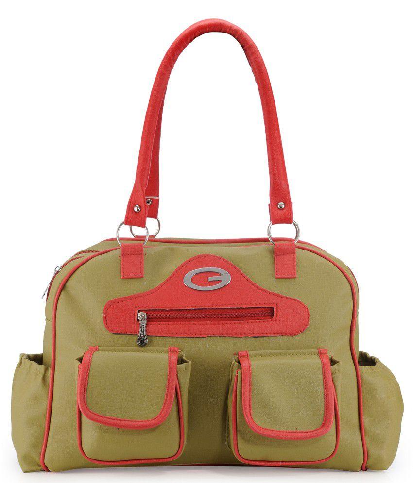 Frosty Fashion Green Pu Shoulder Bag