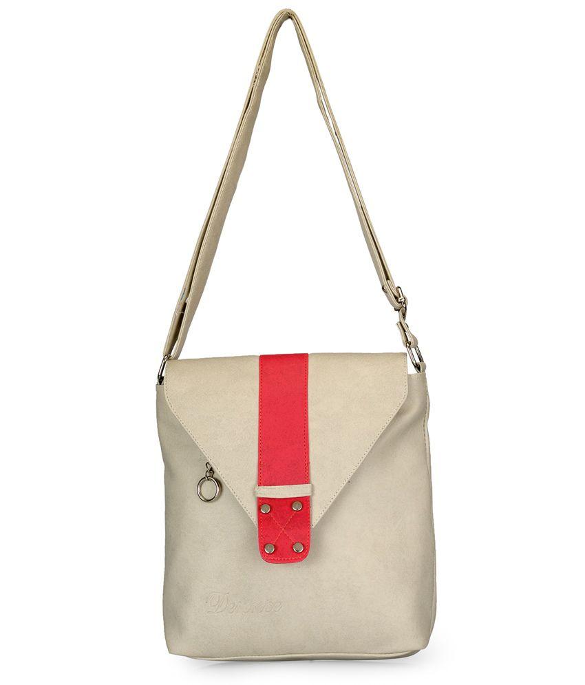 Frosty Fashion White Pu Sling Bag
