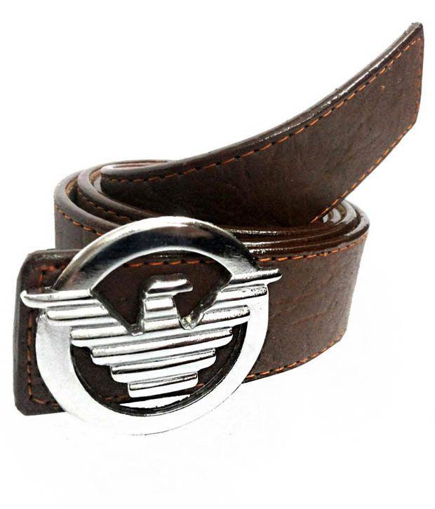 Mode Brown Leather Autolock Men Casual Belt