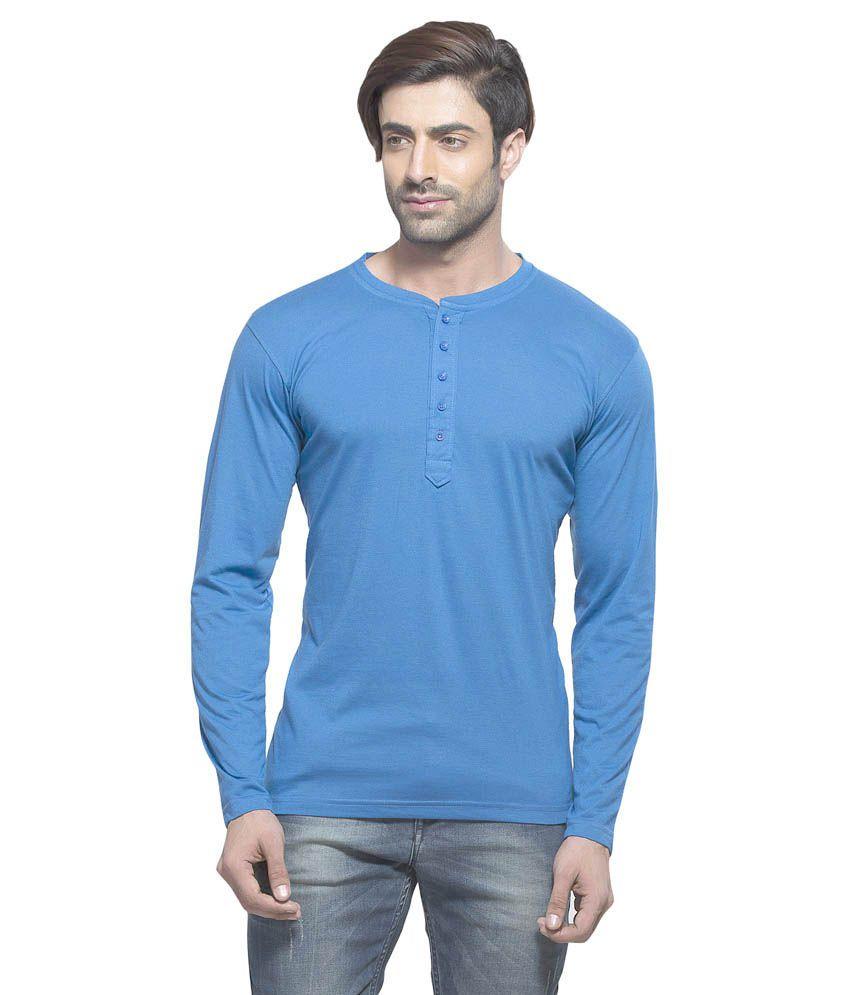 Alan Jones Clothing Blue Cotton T-shirt