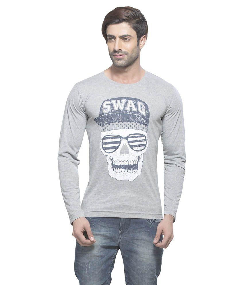 Alan Jones Clothing Grey Cotton T-shirt