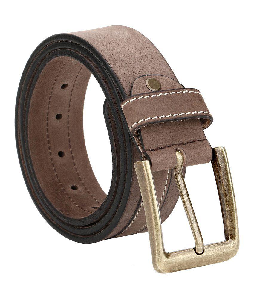 Jsj Brown Leather Belt For Men