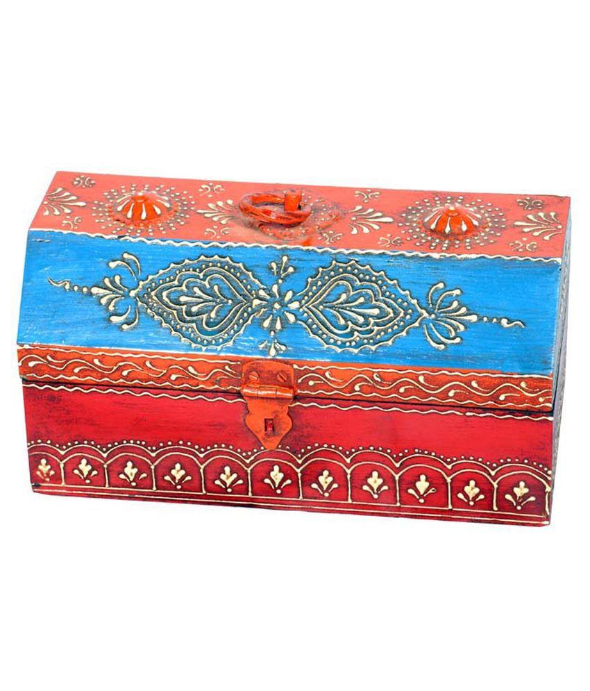 Total Online Wooden Handpainted Hut Shape Box