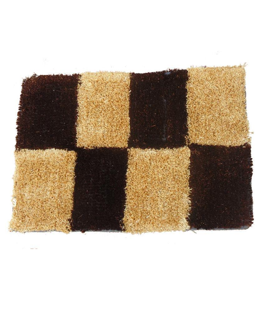 Presto Brown Polyester Floor Mat
