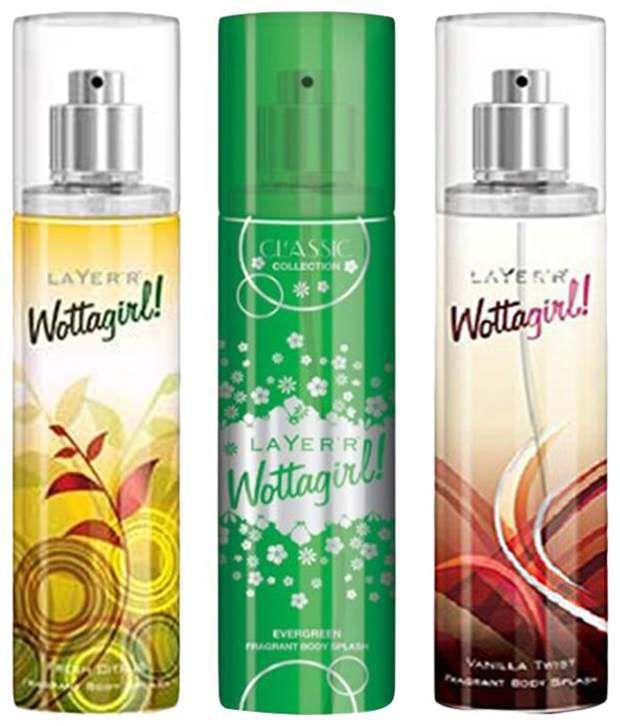 Layer'r Wottagirl Set of 3 Fresh Citrus, Vanilla Twist & Ev...