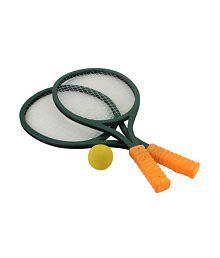 Myra Green Abs Plastic Badminton Racket Set With Ball