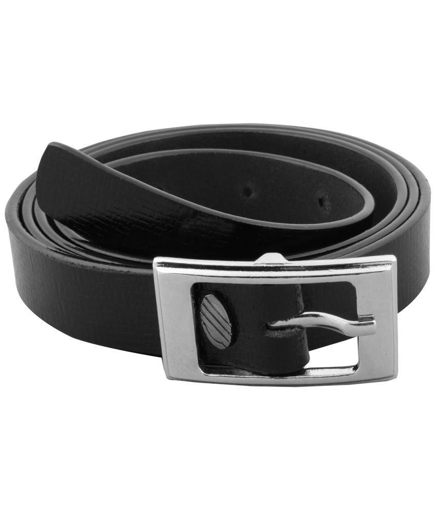 Krishna Black Leather Belt