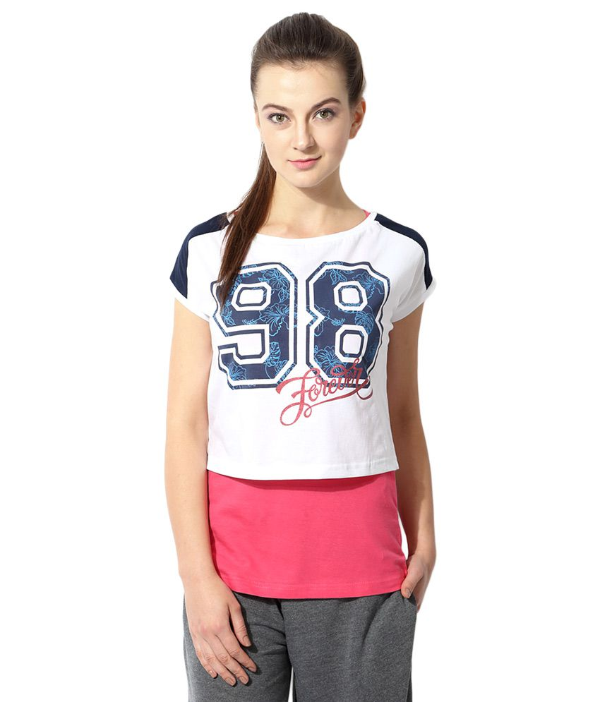 Ajile By Pantaloons White Printed T-Shirt