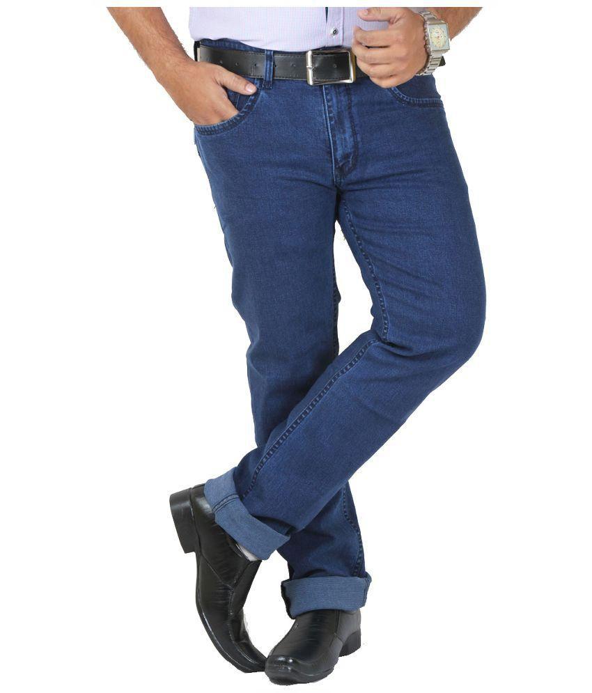 GetAbhi Blue Regular Fit Jeans