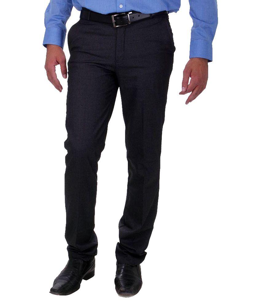 Shikshay Black Slim Fit Trouser