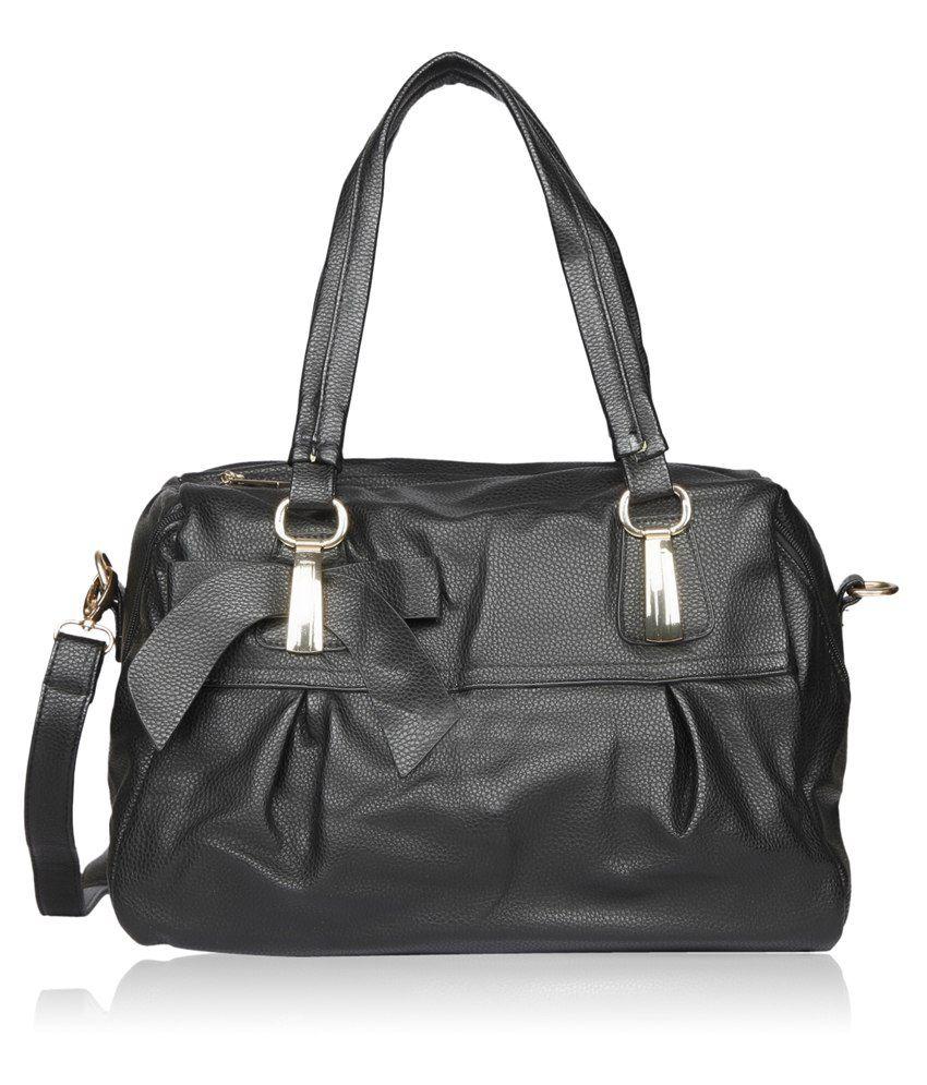 Bagkok Black Pu Satchel Bag