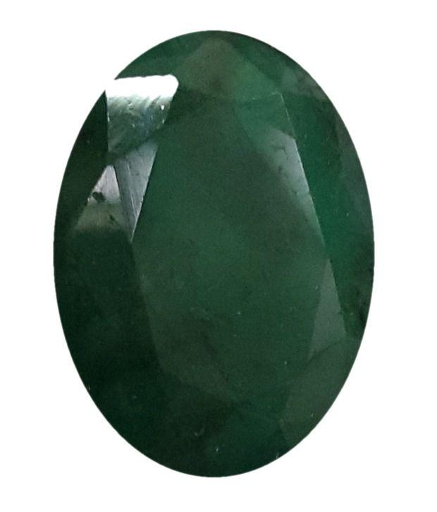 Jain Jewellers Gsi Certified 540 Ratti Green Emerald Panna Gemstone