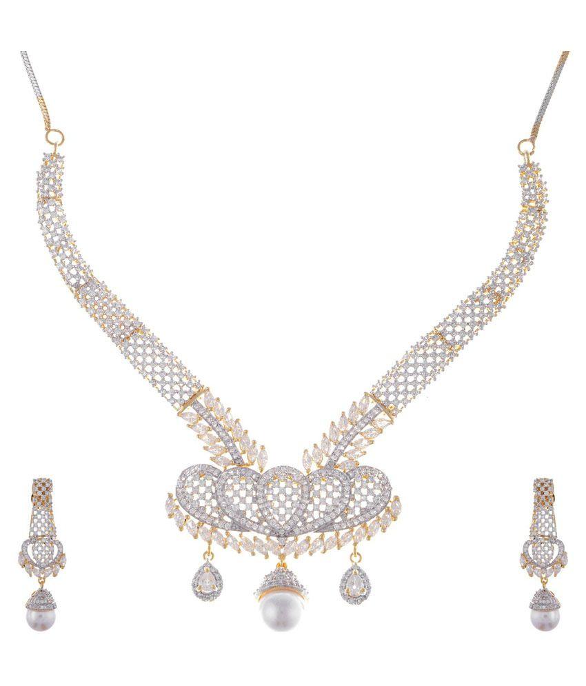 Nik Creations Silver Necklace Set
