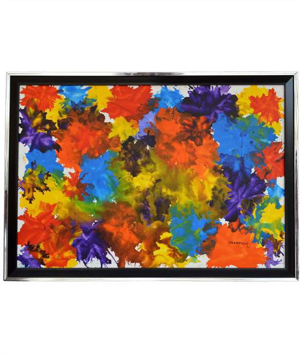 Rangvas Textured Wooden Oil Painting With Frame