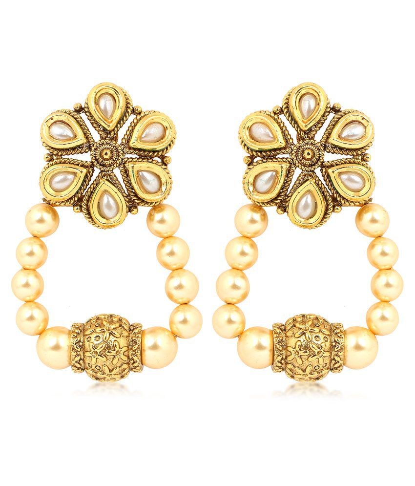 Inaya Multicolour Copper Drop Earrings