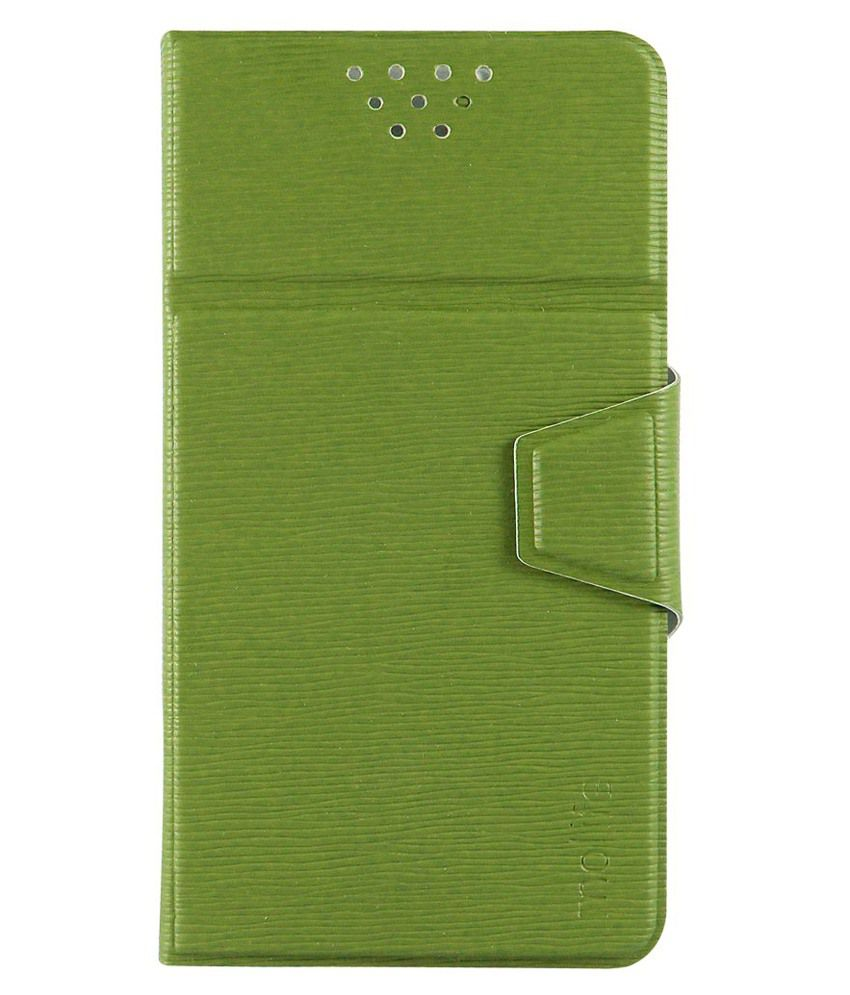 best service 2d238 9f3f7 Molife Universal Flip Cover For Blackberry Leap - Green