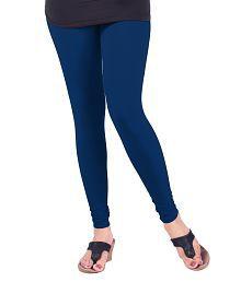Lux Lyra Silk Blue Cotton Leggings
