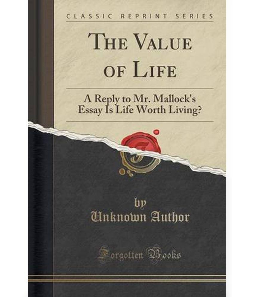 Value of life essay