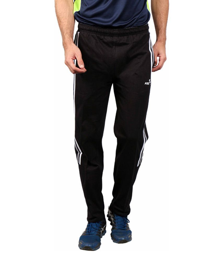 Fitz Black Cotton Trackpant