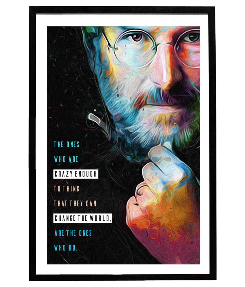 d4bb0501347 Speaking Walls Steve Jobs Quotes Artwork Framed Poster: Buy Speaking Walls Steve  Jobs Quotes Artwork Framed Poster at Best Price in India on Snapdeal
