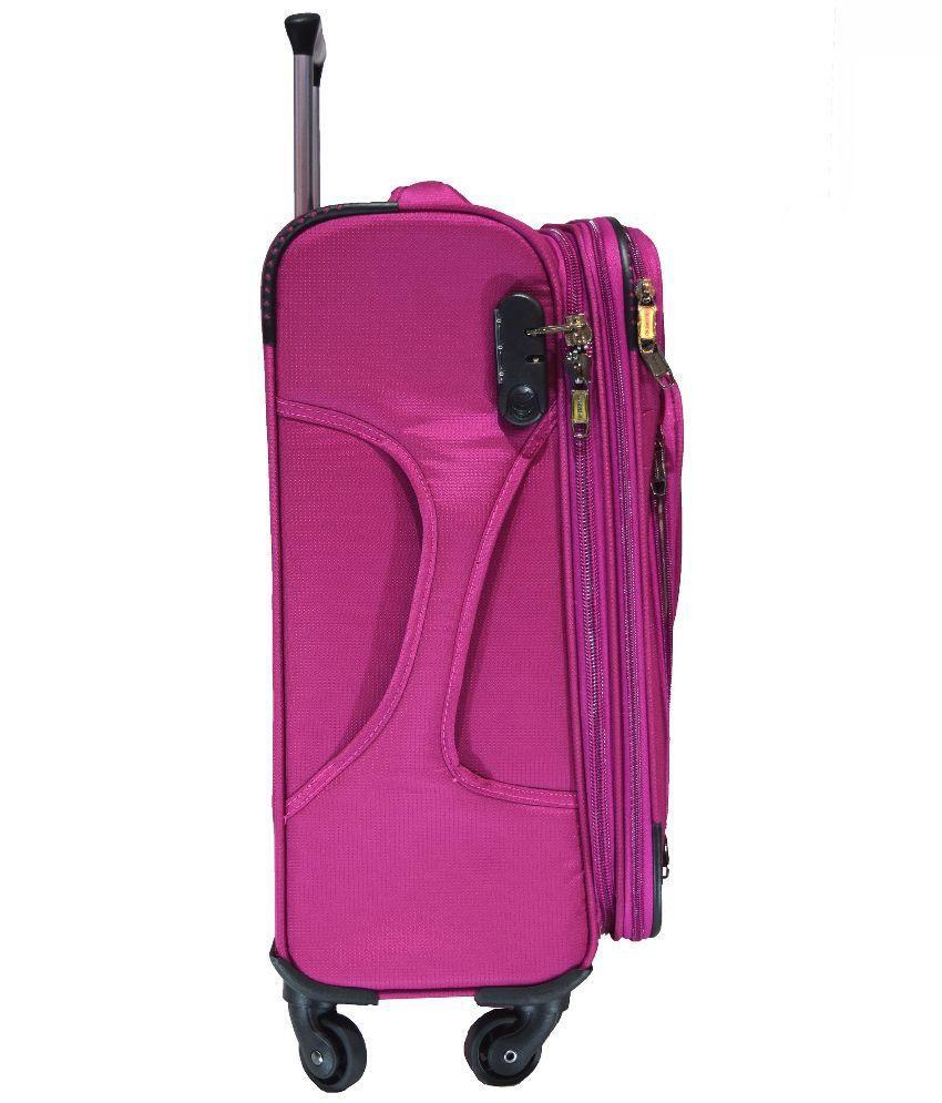 da2704ded005 Polo House USA Pink 4wheel Trolley Bag - Buy Polo House USA Pink ...