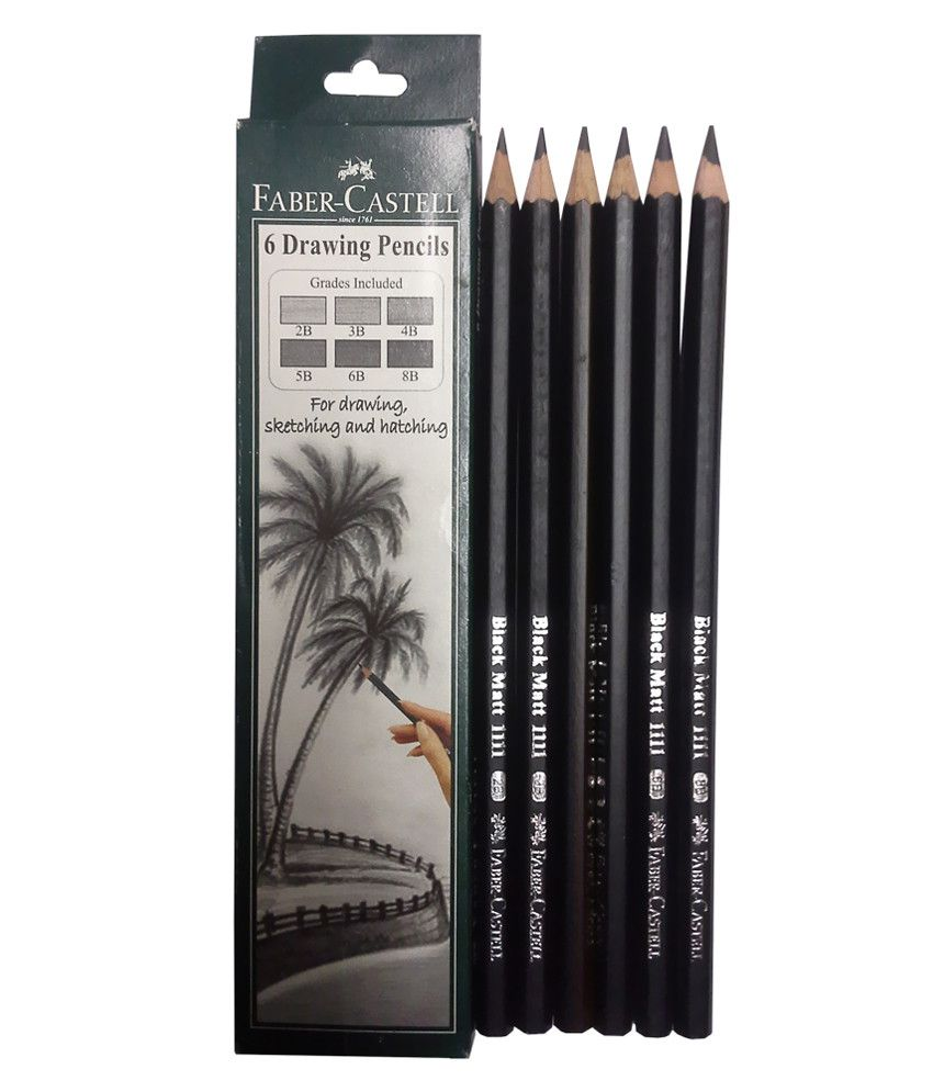 Faber castell graded 6 drawing pencils pack of 4