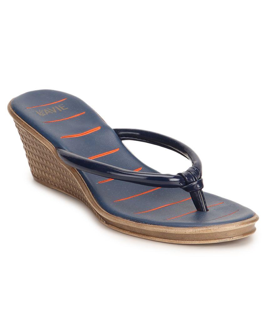 Lavie Blue Heeled Slip-ons