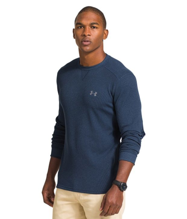 Under Armour Under Armour Men's Amplify Thermal Crewneck Long Sleeve Shirt, Steeltown Gold/academy