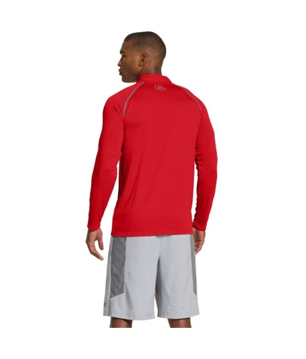 Under Armour Under Armour Men's Ua Tech Quarter Zip Long Sleeve Shirt, Black/bluejet/hivisyellow