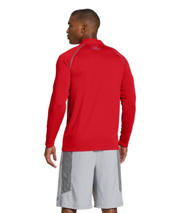 Under Armour Under Armour Men's Ua Tech Quarter Zip Long Sleeve Shirt, Red/graphite
