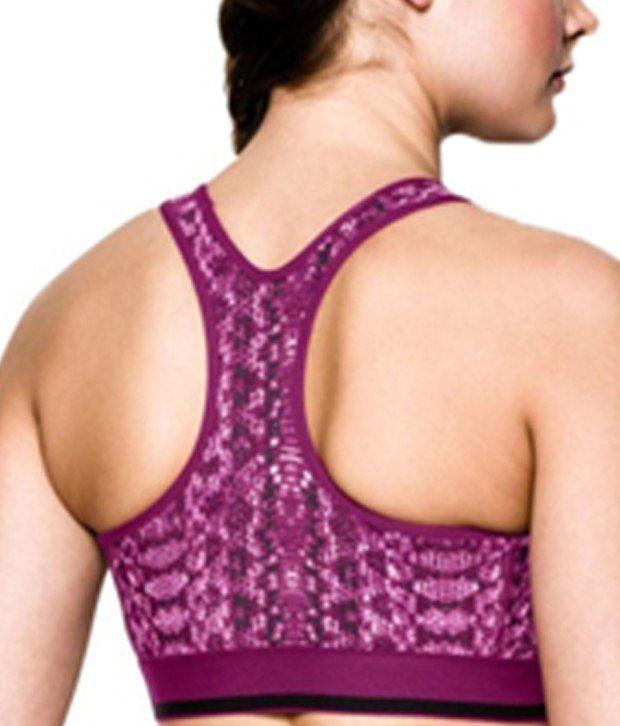 Under Armour Under Armour Women's Heatgear Alpha Printed Sports Bra, Black/white Crosshatch