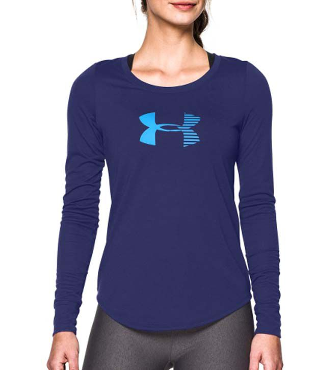 Under Armour Under Armour Women's Stripe Logo Long Sleeve Shirt, Flash Light