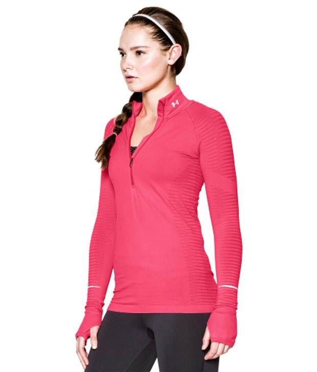 Under Armour Under Armour Women's Run Seamless Half Zip Long Sleeve Shirt, Aubergine/aubergine/ref