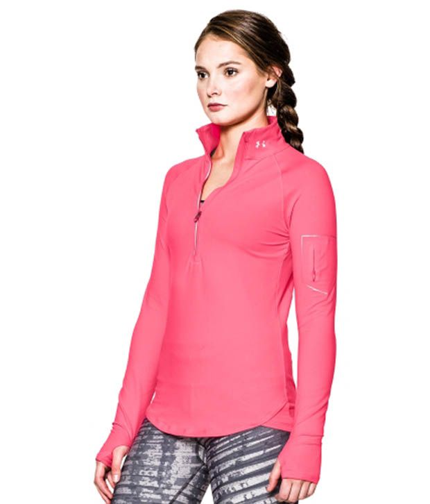 Under Armour Under Armour Women's Fly Fast Half Zip Long Sleeve Shirt, Black/black/msv