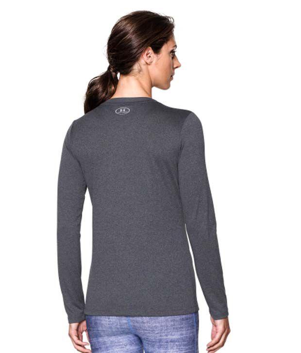 Under Armour Under Armour Women's Tech Long Sleeve Shirt, Carbon Heather