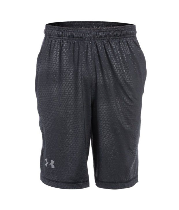 Under Armour Men's Raid Printed Running Short, Black/graphite