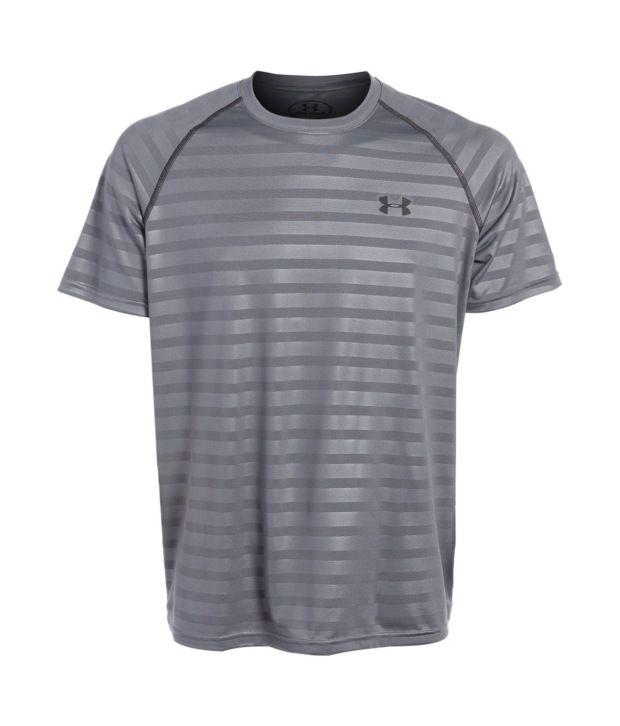 Under Armour Men's Tech Novelty Running Short Sleeve, Graphite/black