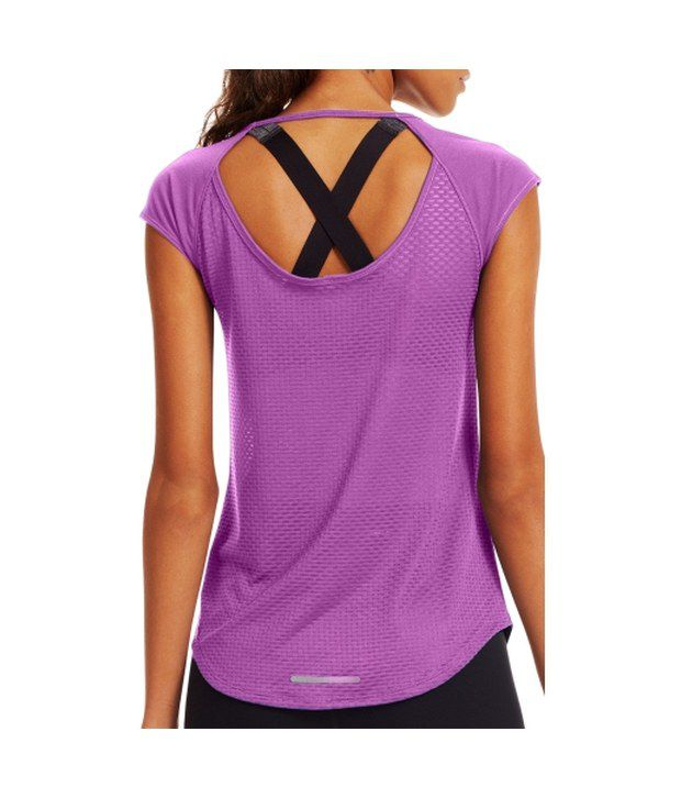 Under Armour Under Armour Women's Fly By Running T-shirt, Rebel Pink